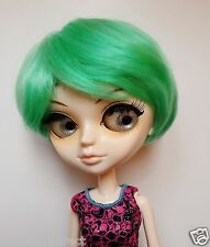 Tangkou/Pullip 1/3 BJD SD doll  8-9'' short hair green wig