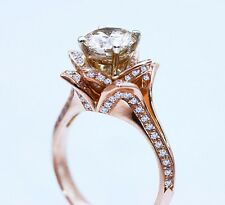 "Gregorio ""Blooming Beauty"" EGL $18,250 18k ROSE GOLD 2.51ctw VS1 Round Diamond"