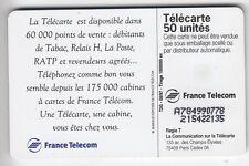 VARIETE TELECARTE FRANCE .. 50U F777.AC REQUIN A COLLE A784990778  UT/TBE C.200€