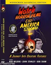 CREATURE FEATURES Bob Wilkins WATCH HORROR FILMS Keep America Strong DVD New!