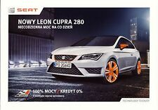Seat Leon Cupra 280 2015 catalogue brochure