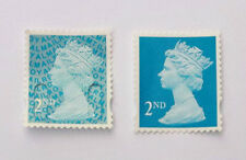 60 UNFRANKED SECOND CLASS BLUE STAMPS OFF PAPER. FACE VALUE £32.40p