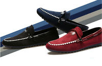 New British Men's Suede Casual Lace Slip On Loafer Driving Moccasins Shoes