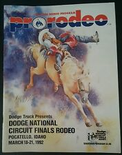 DODGE NATIONAL CIRCUIT FINALS RODEO PRCA - TY MURRAY - MARCH 18-21, 1992 PROGRAM