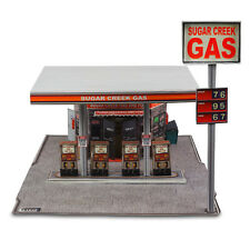 "BK 4808 1:48 Scale ""Modern Gas Station"" Photo Real Scale Building Kit"