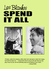 Spend It All DVD region 1 NEW Les Blank 1971 Cajun documentary