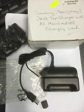 Samsung Galaxy S i9000 Series Desk Stand Charger with AC & USB. Brand New in Box