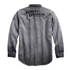Harley Davidson Mens Iron Block Long Sleeve Shirt Jacket NWT