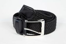 Mens Woven Stretch Belt 4 Colors Size S thru 3XL