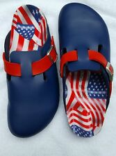 NEW Birki's Birkenstock Woodby Birkoflor  Blue Flag Womens US 8-8.5/ EU 39