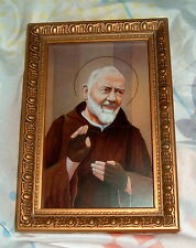 ST SAINT PADRE PIO 6.5x4.5 in by GERFFERT New Catholic Franciscan Friar Stigmata