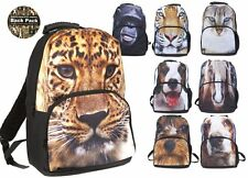 2D Animals Tiger Dog Cat Horse Monkey Animal Print School Student Back Pack