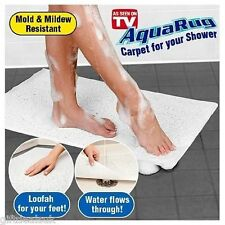 BRAND NEW AQUARUG CARPET MAT FOR BATHROOM SHOWER TUB AS SEEN ON TV AQUA RUG GRIP