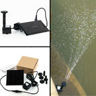 In AU! 1.2W led Mini Floating Solar Power Fountain Brushless Water Pump Lights