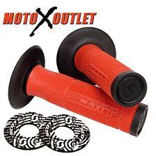 Pillow Top Handlebar Grips Honda Dirt Bike Motorcycles Fits Pro Taper Bars