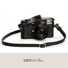 Black Adjustable Leather Camera Strap with ring connection by Cam-in