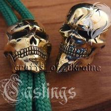 Brass Bead for Paracord Bracelet Lanyard Beads Knife Tool SKULL HEAD Handmade