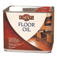 Liberon Wood Floor Oil 2.5 Litre Stain Resistant with Natural Sheen Finish