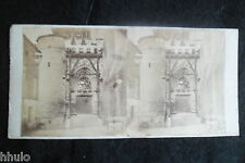 STB071 portail porte grille chateau ville a situer ancien photo STEREO amateur