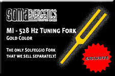 528 Hz (MI) Gold Color Tuning Forks - Custom-made for SomaEnergetics