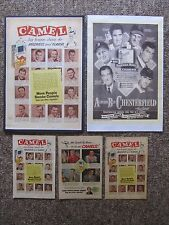 1940's & 1950's Camel Cigarette ads. Mantle, Williams, Dimaggio, Musial, etc.