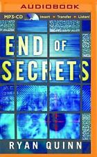 The End of Secrets by Ryan Quinn (2014, MP3 CD, Unabridged)
