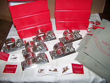 PIG Napkin Rings Holder x6 Pewter Beautiful NIB unused Bridget Dobson Collection