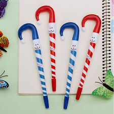 4Pcs Colorful Christmas Snowman Hat Shaped Ball Point Pen