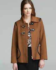 NWT MARC BY MARC JACOBS Francoise Coat in Rum Multi $898 - XS