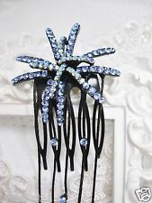 SOHO Blue Swarovski Crystal Elements Starburst with Long Danglers