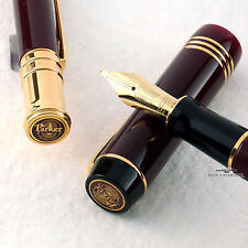 Parker Duofold Burgundy Special Edition Ballpoint & Fountain Pen - Matching Set!