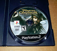 The Pirates of the Caribbean! At Worlds End! PS2 Game! Disc Only! Good Cond!+NR!