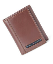 Tommy Hilfiger Mens Tan Leather Cambridge Trifold Passcase Wallet in Gift Box