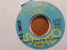 PROMO COLUMBIA 45 RECORD/OC SMITH/CLEAN UP YOUR OWN BACK YARD/I'VE BEEN THERE