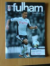 Fulham V Swansea City Official Football Programme 17th March 2012