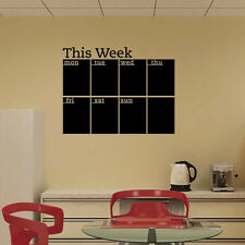 CALENDAR WALL STICKERS 7 decals home office college dorm dry erase room decor