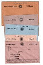 Schweiz Feldpost Grenzbesetzung: Schöne Partie mit 5 Briefumschlägen um 1870
