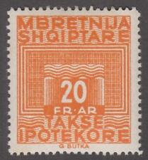 Albania Mortgage Tax Revenue Barefoot #10 MNH 20Fr Takse Ipotelkore 1930 cv $53