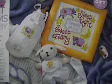 WONDERFUL SWEET DREAMS BABY BIRTH SAMPLER + PATCHES FOR GIFTS CROSS STITCH CHART
