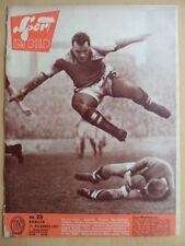 SPORT IM BILD 23 - 15.11. 1957 Fußball Boxen Querfeldein Bob Rodel Bergsteigen
