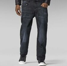 "G-Star Mens New Radar Low Loose Jeans 28"" x 30"" BNWT Blk Hydrite Denim Med Aged"