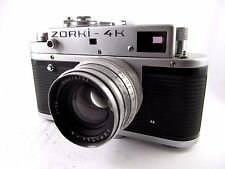 ZORKI-4K USSR Soviet Leica copy camera with Jupiter 8 lens 50mm f/2