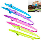 Newly Silicone Cooking Kitchen Tongs Food BBQ Salad Bacon Steak Bread Clip Clamp