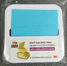 NEW 3M POST-IT® SUPER STICKY Z-NOTES BLUE POST IT NOTES DESK DISPENSER