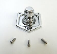 CHROME SOLENOID COVER PUSH BUTTON STARTER SWITCH FOR HARLEY BIG TWINS 91-2014