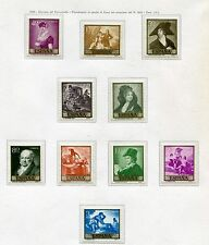 SPAIN 1958 stamps unused MNH - paintings by Francisco Goya (414-e89)