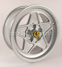 "Ferrari 308 QV 328 Silver Five Spoke Ferrari Style 16"" Wheel Set 4 Pcs New"