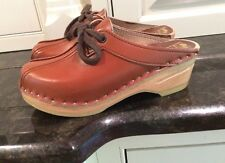 "Bastad Tofflen Open Swedish Clogs, Size 34, US Size 4.5 Or Kids 3.  8.5"" Insole"