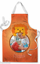 PERSONALISED PHOTO LION  CHILDRENS APRON BAKING PAINTING WATER ARTS & CRAFTS