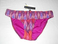 Hermanny By Vix New Womens Multi Banded Bikini Bottom Bathing Suit Size 10